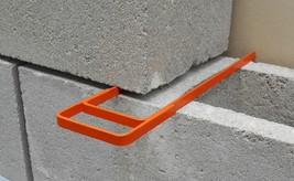 Masonry Fork & Compacting Trowel. Cement Block and Brick Joint Spacer Tool. - $27.50