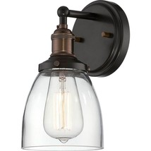 Nuvo Lighting 60/5514 Vintage Wall Sconce Rustic Bronze New - $79.99