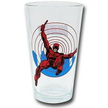 Daredevil Clear Pint Glass Red - $19.98