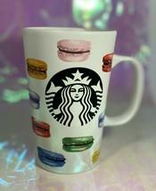 Starbucks Coffee Cup 2015 Dot Collection French MACARONS Rainbow Mug 16oz - $44.55
