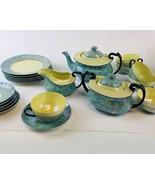 Czech-Slovakia Phoenix  Lusterware, Luster Sugar Bowl  Creamer Teapot  &... - $123.75