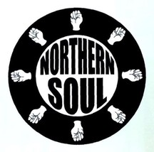 Northern Soul composite laminated circular wall plaque 25cm ska mod Wiga... - $32.00