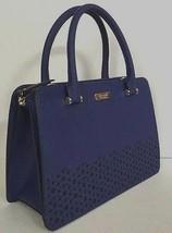 New Kate Spade Lise Newman drive Leather Satchel handbag Asilah Blue - $176.22 CAD