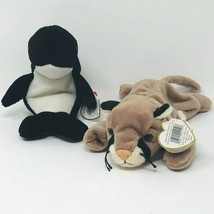 """Ty Beanie Babies Waves Whale and Canyon Cougar 8"""" Plush Stuffed Animal Toy  - $15.00"""