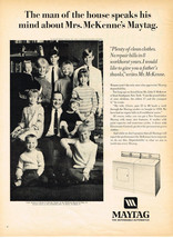 Vintage 1967 Magazine Ad For Maytag Dependable Automatics And Zippo Lighter - $5.93