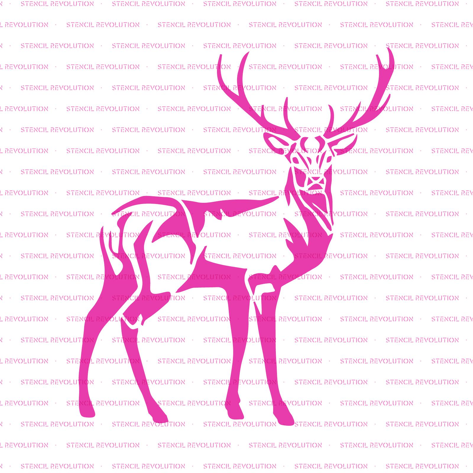 Deer Stencil - Reusable Stencils of Deer in Multiple Sizes