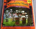 8 Halloween Plastic Bag Hanging Skulls Figures NIP - $3.99