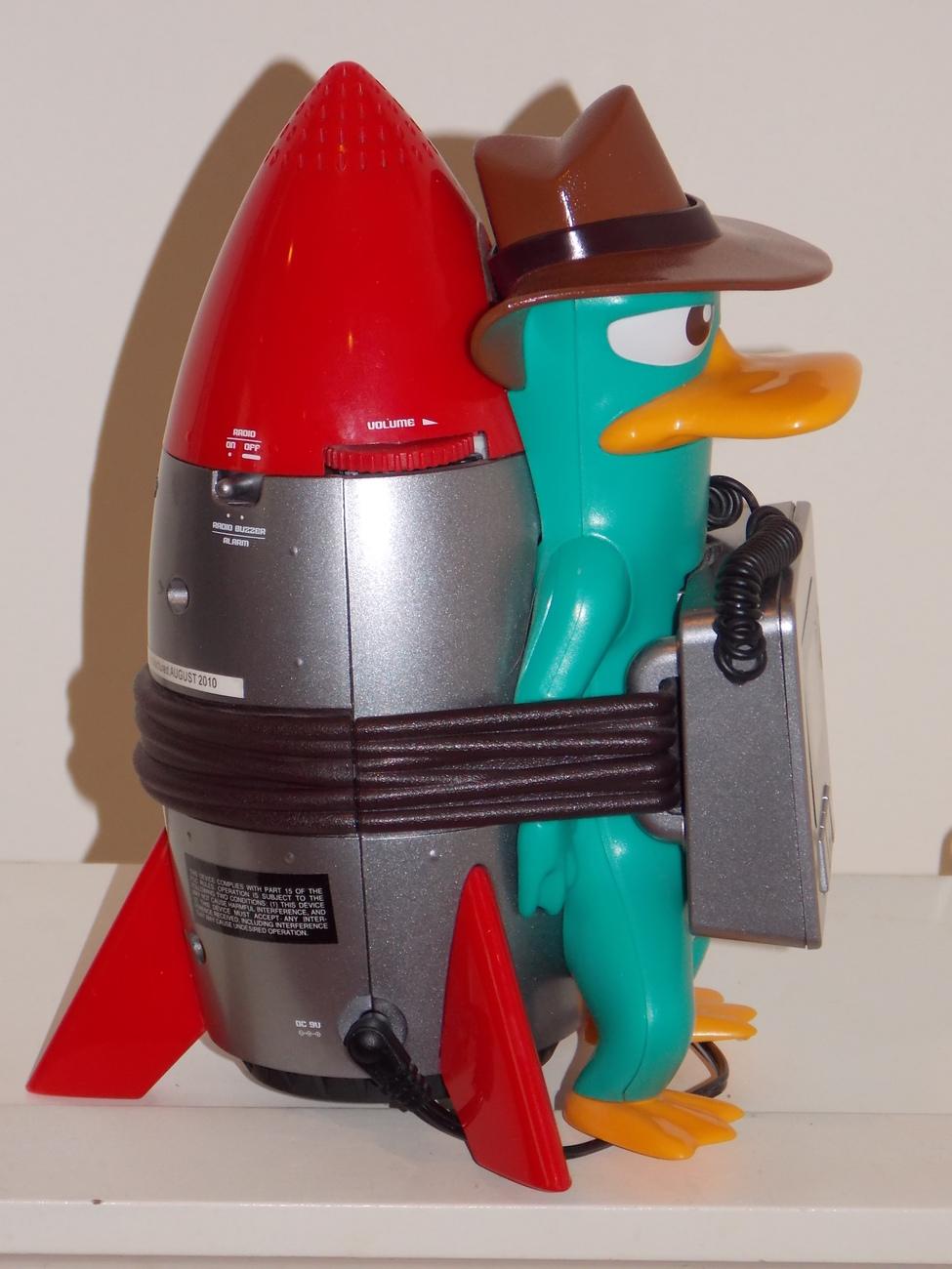 Disney Phineas and Ferb Alarm Clock Radio