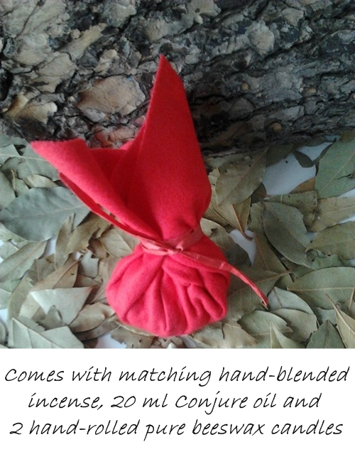 Red mojo bag