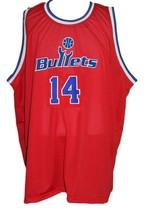 Robert Pack #14 Washington Retro Basketball Jersey Sewn Red Any Size image 3