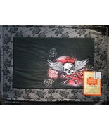 4 Skull and Crossbones with Wings and Roses Table Placemats Halloween New - $13.99