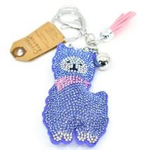 Pave Crystal Accent 3D Stuffed Pillow Lamb Llama Alpaca Keychain Key Chain image 1