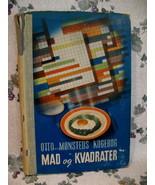 Vintage 1939 Denmark Danish Cookbook Recipes Collector Mad Og Kvadrater - $19.95