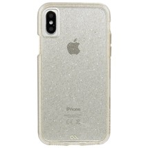 NEW Case Mate iPhone X Case - NAKED TOUGH Sheer Glam Sparkle Effect - Pr... - $8.87