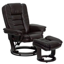 Swivel Mahogany Recliner With Ottoman Chair For Living Room Lazy Boy Bes... - $383.95