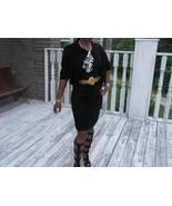 Classy Designer Black broadtail Fur Coat Skirt suit Jacket bolero S-M z ... - $455.39