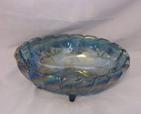 Blue carnival glass fruit bowl thumb155 crop
