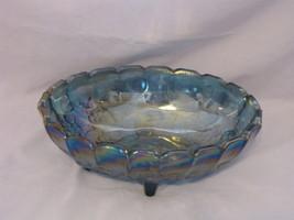 Harvest Blue Carnival Oval Bowl - $25.00