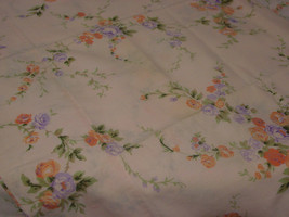 "Vintage Sears Roebuck 82"" X 92"" Flat Sheet One Std Pillowcase Pink Floral - $9.99"