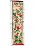 Mid Century Modern Wall Hanging Art Childs Kids Growth Chart Hand Sewn 1... - $47.50
