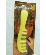 """Vtg YELLOW Stanley Products Contour Beauty Comb SEALED Salon Styler 8""""  - $28.66"""