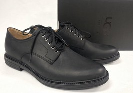 UGG Australia Men's Jovin Black Leather Oxfords Lace Up Shoes 1018689  loafers - $99.99