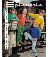 Spinnerin Boys Will Be Boys Booklet Vol 189 1968 Sizes 4 to 14 Sweaters - $9.99