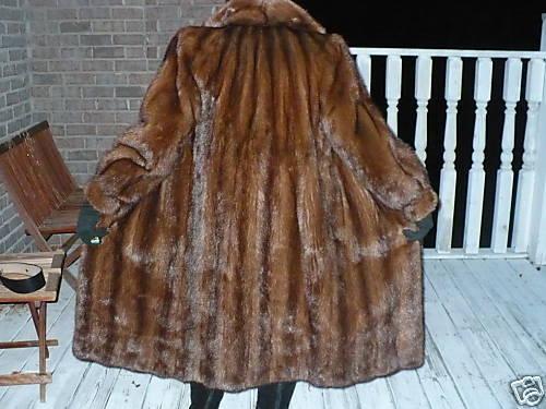 Excellent Full length brown Mink Fur Coat Jacket SM