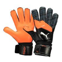 Puma One Protect 3 Goalkeeper Gloves GK Soccer Football Orange/Black 04163501 - $59.99