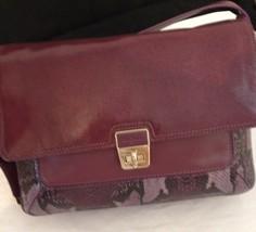 Purple Plum Leather Cole Haan Designer Handbag - New with Tag - $220.00