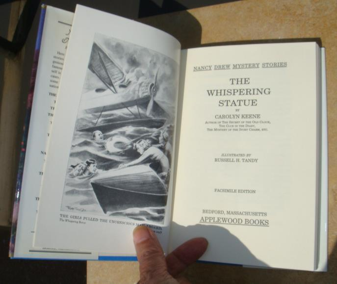 Nancy Drew 14 The Whispering Statue, FIRST AND NEW Applewood hcdj