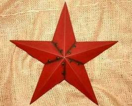 12 inch Metal Burgundy Star Country Home Decor - $11.98