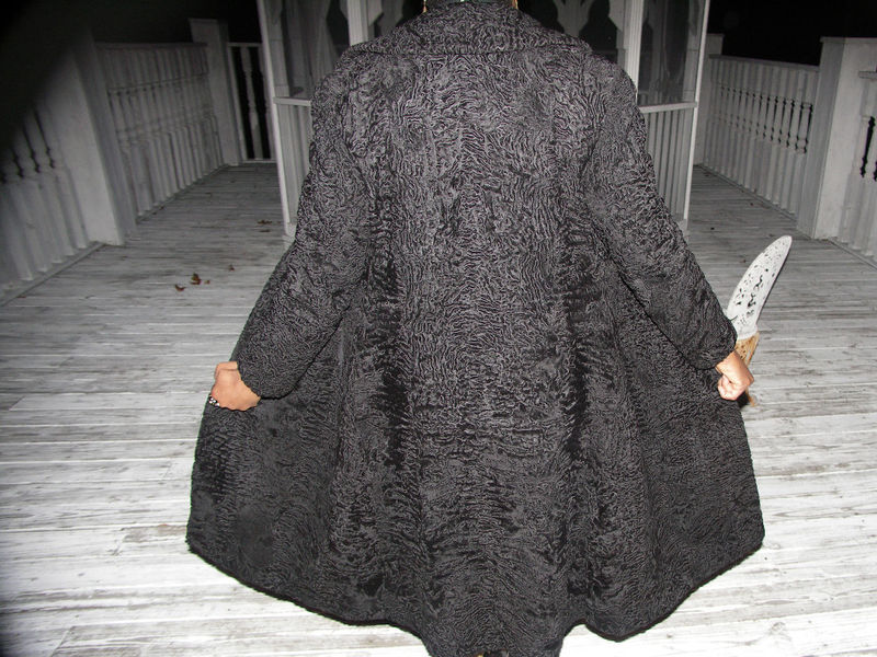Genuine FL S African Black Swakara Fur Coat Jacket S