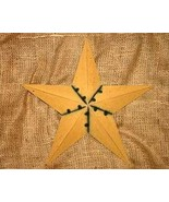 12 inch Metal Mustard Star Country Home Decor - $11.98