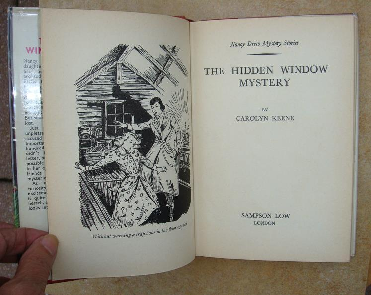 Nancy Drew 34 The Hidden Window Mystery hcdj UK first edition