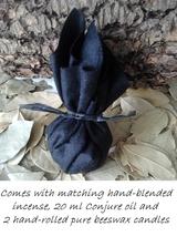 BLACK ARTS Mojo Bag Plus Matching Oil, Incense & Candles - $38.00