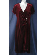 10 Coldwater Creek Burgundy Stretch Velour Cock... - $19.99