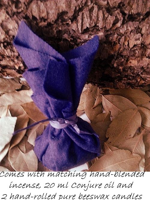 Purple mojo bag