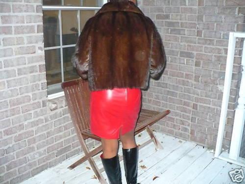 Mint Instyle Crop brown Mink Fur coat jacket bolero S-M