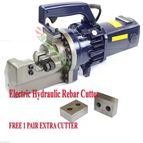 "Primary image for Electric Hydraulic Rebar Cutter 1"" ( #8) Heavy Duty Cutting FREE TWO EXTRA BLADE"