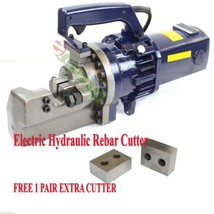 "Electric Hydraulic Rebar Cutter 1"" ( #8) Heavy Duty Cutting FREE TWO EXT... - $484.10"
