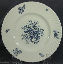 Royal Worcester Blue Sprays Dinner Plate (M2) England Bone China Swirled... - $49.95