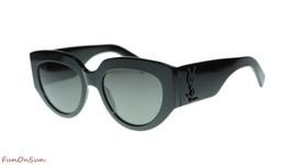 YVES SAINT LAURENT Sunglasses SL M26 Rope 001 Black/Grey Lens Designer 54mm - $252.20