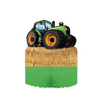 "Tractor Time 12"" x 9"" Honeycomb Centerpiece/Case of 6 - $36.47"