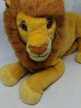 "Mattel Disney 24"" Plush Adult Simba Big Lion King Mufasa Stuffed Big Large VTG - $49.49"