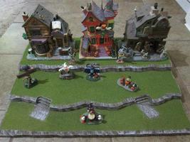 Halloween Christmas Easter Village Display Platform Base H44 - Dept 56 L... - $42.95