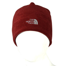 8416 THE NORTH FACE NWT DEEP BIKING RED FLEECE COLD FRONT BEANIE HAT SKULLY - $14.15