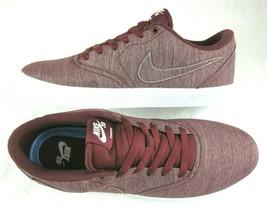 Nike Mens SB Check Solar Canvas Premium Shoes Dark Team Red White Size 9 New  - $54.44