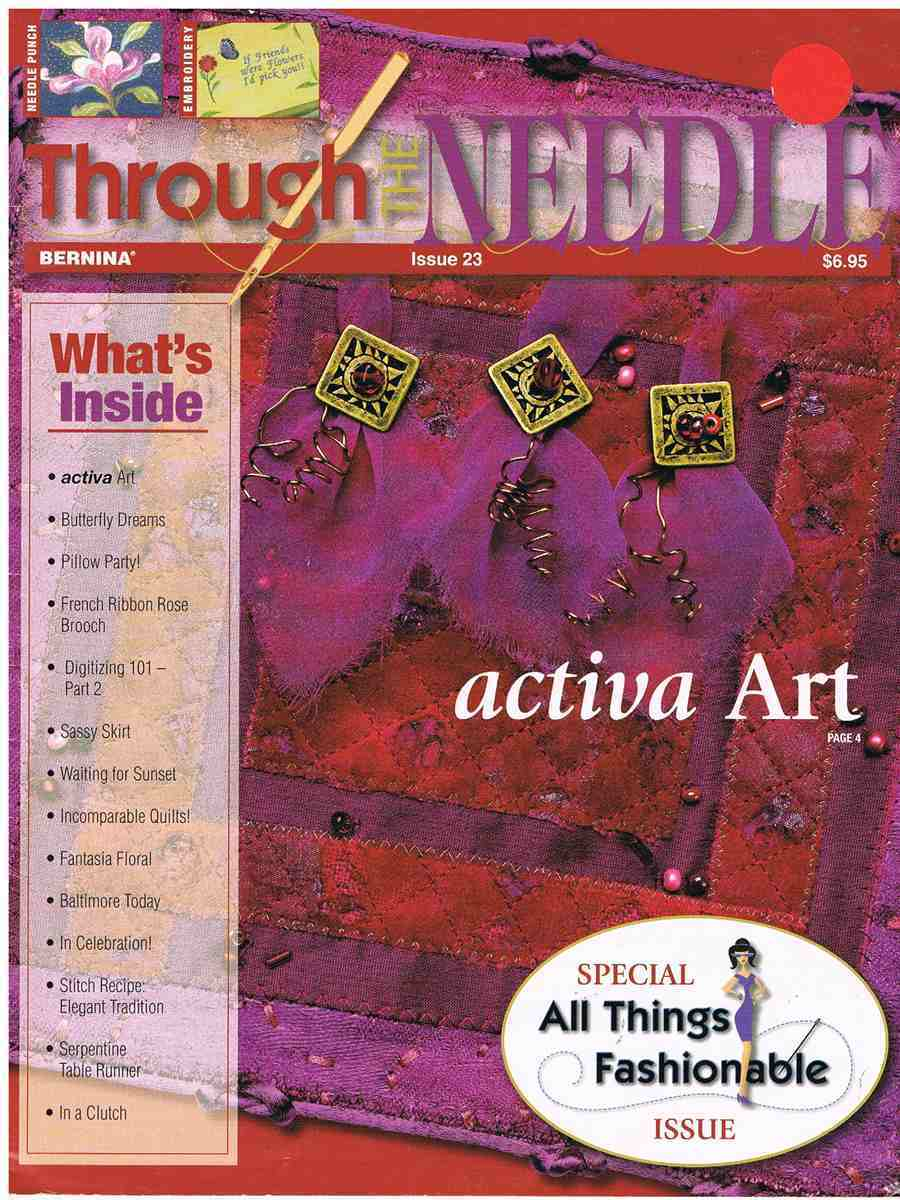 Through needle issue 23