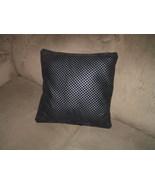 "2 beautiful black faux leather throw pillows 16"" x 16"" zipper closure pi... - $30.00"